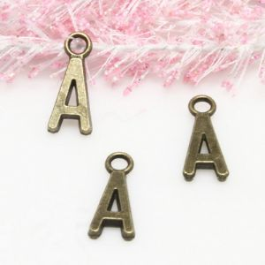 Charm, Metal alloy of copper, iron, tin, Bronze colour, 16mm x 7mm x 2mm, (LLD075)